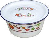 Tazón de fuente de lavado del esmalte con el tipo tazón de fuente de la cubierta/del tazón de fuente/del vientre de dedo de dedo