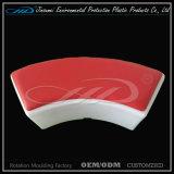 Matériau de moulage par rotation de PEBDL LED moderne chaise en plastique