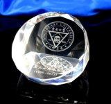 Cristal de vidrio cubo artesanía de papel para la Oficina