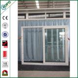 Ouverture extérieure résistant aux chocs en plastique de porte coulissante de doubles carreaux