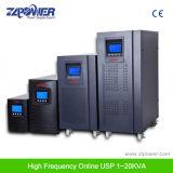 고주파 6kVA 세륨 증명서를 가진 온라인 UPS 단일 위상 순수한 사인 파동 UPS