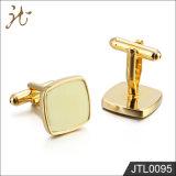 La moda bonito color dorado de la calidad de los botones del manguito de la Joyería para hombres
