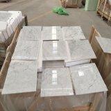 Telha de mármore branca de mármore italiana de Bianco Carrara da telha