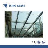 Le verre feuilleté construction mur rideau en verre avec certificat CE
