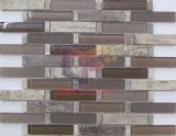 Marmo di legno del grano con il mosaico della parete di vetro (CFS705)