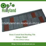 石造りの上塗を施してある金属の屋根ふき(鉄片タイプ)