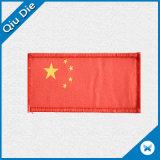 El espesor de tejido de alta banda Lockrand etiqueta tejida por la bandera del país