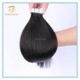 Kundenspezifische Band-Haar-Extensions-Haare der Farben-Qualitäts-#1b natürliche schwarze doppelte gezeichnete mit Fabrik-Preis Ex-047