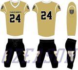 Großhandelssportkleidung-kundenspezifisches Frauen-Rosa-amerikanischer Fußball-Hemd