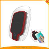 透過感動させるパネルの無線充電器- +スマートな電話のための白