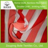 Panno di bambù di stampa della fibra con le bande rosse e bianche