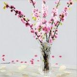 Barato al por mayor altura Cristal Claro Jarrón de flores decoración del hogar