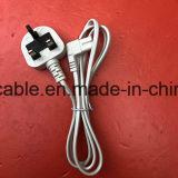 cable eléctrico BRITÁNICO aprobado 2pin del 1.5m BS con IEC C7 del ángulo