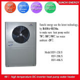 Amb. Bomba de calor da fonte de ar da água quente R134A+R410A da tomada 90c do tempo de -20c para o aquecimento Home do radiador