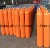 Le gaz ammoniac cylindre avec la couleur orange