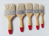"""Ручка чисто щетинки """" 3 """" комплекта щетки 4 краски деревянная"""