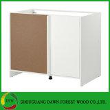 現代高い光沢のある台所家具MDFのラッカー食器棚