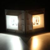 Luz montada en la pared del camino de la lámpara de la iluminación de la energía solar 4 LED de los productos del jardín de la yarda de la cerca al aire libre del canal