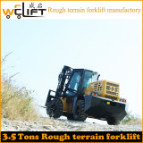 Diesel van het Terrein van 3.5 Ton Ruwe Vorkheftruck