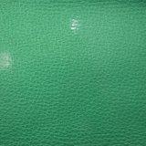 Couro de patente sintético do plutônio da grão do Litchi para a sapata do saco