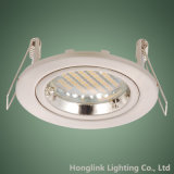 白いTwist Rock RingはAluminum GU10 3W 5W LED Recessed Downlightを停止するCast