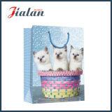 Мешок подарка покупкы конструкции кота Whosale дешевой напечатанный бумагой с покрытием