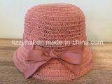 Шлем хлопка шлема весны шлема лета связанный способом с смычком для женщин