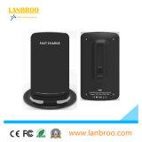 Soporte de carga sin hilos de Qi del teléfono celular de los accesorios del cargador del teléfono elegante sin hilos al por mayor del soporte