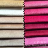 Tessuti 100% di tessile domestici del poliestere lucido del velluto