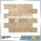외면을%s 자연적인 베이지색 석회석 벽 도와