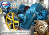 Turbina propensa del getto, idro turbina dell'idro generatore per la centrale idroelettrica