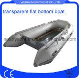 Talla inflable transparente los 200-330cm del barco de la parte inferior plana