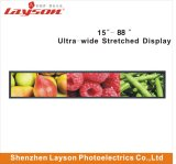 Ultra panorâmico de 38 polegadas esticada Bar painel LCD exibir Anúncios Multimídia Player Digital Signage da rede WiFi monitor LED de cor completo leitor de Mídia de Publicidade
