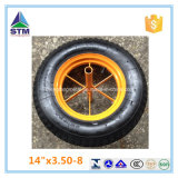 Wheelbarrow Wb6400를 위한 14 인치 Rubber Wheel 3.50-8 Cart Wheel