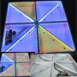 Diodo emissor de luz preto e branco interativo acrílico Dance Floor do estágio DMX