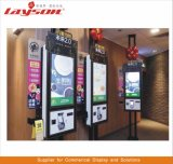 プレーヤーLCDの表示のデジタル表記の順序の食糧切符の自動販売機の自己サービスバンクカードのビルの支払のターミナルタッチ画面のキオスクを広告する55インチ