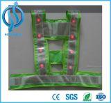 Chalecos reflexivos del acoplamiento LED del Hola-Vis de la seguridad del negro de la seguridad