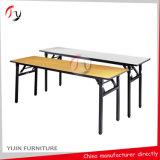 Table rectangulaire de banquet de conférence pliante à contreplaqué long (BT-09)