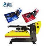La machine à haute pression de presse de la chaleur de modèle neuf, le transfert thermique 38X38cm plats d'impression de T-shirt de Digitals usinent, U-Forme jaune de couleur