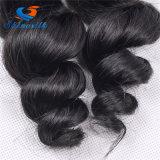 브라질 느슨한 파는 4개 피스 100% 사람의 모발 연장 16-26inch를 길쌈하는 색깔 Non-Remy 자연적인 머리를 묶는다