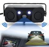 3 en 1 Vidéo Capteur Parking voiture caméra Vue arrière de sauvegarde de marche arrière Bibi Indicateur d'alarme anti-Came de voiture avec 2 capteurs du détecteur de radar