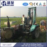 Plate-forme de forage montée par entraîneur et machine de Hf100t 120m