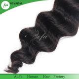 緩い波の毛を搭載する自然なSweingのペルーのバージンの毛