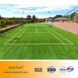 Rote Farben-künstliches Rasen-Gras, synthetischer Rasen-Rasen für Tennis-Gericht