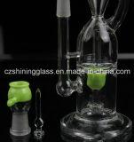 3 Farben-Recycler-Glaswasser-Rohr-Glaspfeife mit der 14.5mm Verbindung