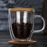 doppel-wandige Glas12oz kaffeetasse-Glasmilch-Cup-Bier-Glaswaren