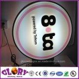 Airtel caixa quadrada Pés Caixa de luz LED para exibição de Publicidade