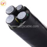 Câble d'alimentation isolé par XLPE en aluminium de faisceau de Yjlv de prix bas d'usine