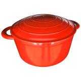 4.6L/4qtの赤い鋳鉄のオーブンのカセロールの鍋