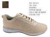 Numéro 52141 maille 36-41# supérieur des chaussures occasionnelles de Madame rose de couleur